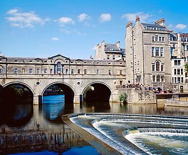 The Pulteney Bridge, Bath, England, UK.