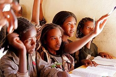 Grade 5 class in a school in Adaga, Tigray, Ethiopia