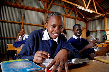 Christ the King Catholic secondary school, Kibera, a slum of Nairobi, Kenya