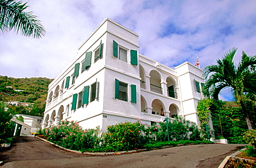 Old Government House in Road Town .Tortola Island, British Virgin Islands