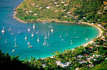 Cane Garden Bay in Tortola Island, British Virgin Islands