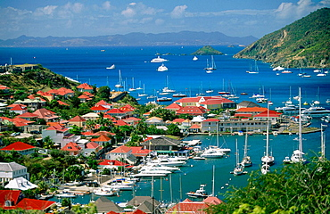 La Pointe (the far side of Gustavia town) in St, Barthelemy Island, French West Indies