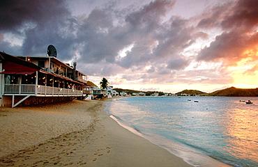 Nettuno Restaurant on Grand Case's beach, St, Martin Island, French West Indies