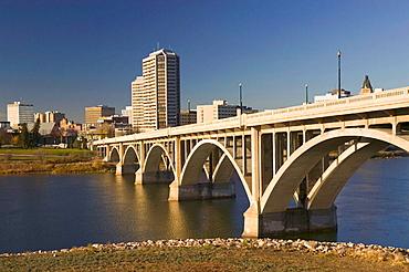 Broadway Bridge view of the city, Saskatoon, Saskatchewan, Canada