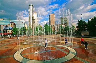 Centenial Olympic Park, fountains, Atlanta, Georgia, USA
