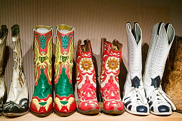 Country Music Mecca of the Midwes.The Roy Rogers & Dale Evans Cowboy Museum, Roy Rogers' Cowboy Boots, Branson, Missouri, USA.