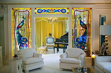 Living Room,  Former Residence of Elvis Presley, Graceland, Memphis, Tennessee, USA