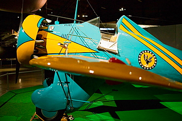 US Air Force Museum and National Aviation Hall of Fame, 1930s P-26 US Fighter plane, Dayton, Ohio, USA.