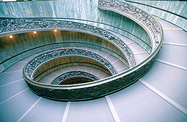 Spiral stairs at Vatican Museum, by Donato Bramante, Vatican City, Rome, Italy