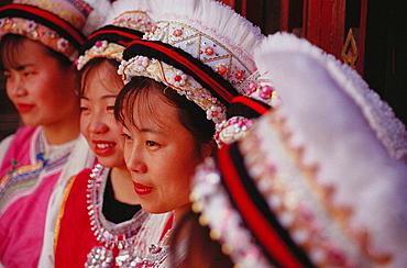 Young unmarried Bai women, Dali, Yunnan, China