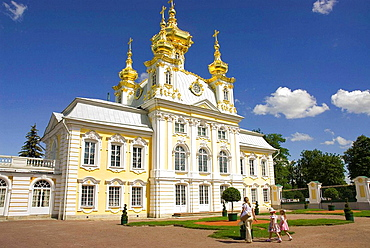 Russia, Petrodvorets, Peterhof Palace, Peter the Great's Summer Palace, Grand Palace.