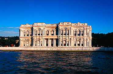 Dolmabace, former palace of Ataturk Mustapha Kemal on Bosphorus, Istanbul, Turkey.