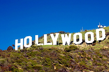 Hollywood Sign on Hollywood Hills, Los Angeles, California, USA