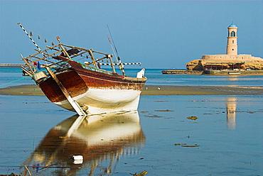 Dhow at low tide, Sur, Oman
