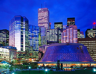 Financial district and Roy Thomson Theatre, Toronto, Ontario, Canada