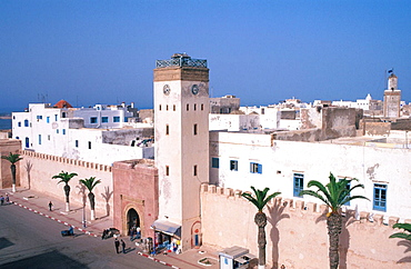 Fortifications surounding the medina (old city) of Essaouira, Morocco