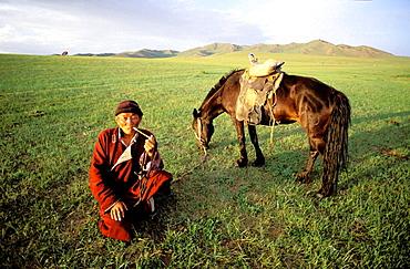 Nomad man, Arkhangai province, Mongolia