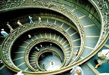 Entry stairs to Vatican Museums, Vatican City, Rome, Italy