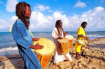 The Original Turtle Shell Band, group of Garifuna musicians, Dangriga, Stann Creek district, Belize