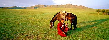 Nomad horseman, Arkhangai province, Mongolia