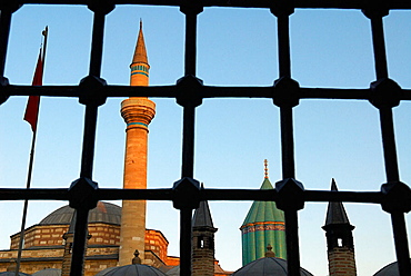 Tomb of Jalal al-Din Muhammad Rumi (mystical poet and founder of The Whirling Dervishes), Konya, Central Anatolia, Turkey