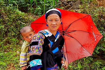 China, Guizhou province, Small flower Miao in the Dahua flower.