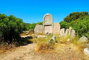 Giants' grave of Sa Ena 'e Thomes, Dorgali, Sardinia, Italy