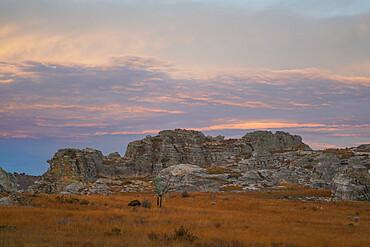 Sunset at Isalo National Park, Fianarantsoa province, Ihorombe Region, Southern Madagascar