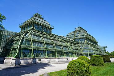 The Palm House in the Schonbrunn Gardens, UNESCO World Heritage Site, Vienna, Austria, Europe