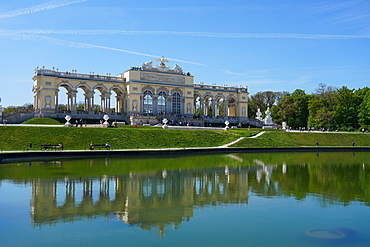 The Gloriette in the Schonbrunn Palace Gardens, UNESCO World Heritage Site, Vienna, Austria, Europe