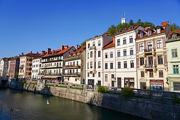 Ljubljanica River, downtown Ljubljana, Slovenia, Europe