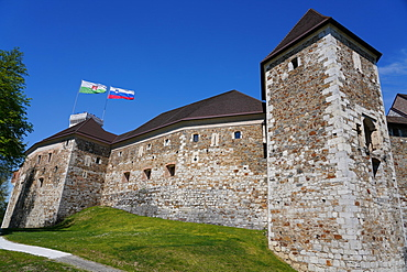 Ljubljana Castle Walls, Ljubljana, Slovenia, Europe