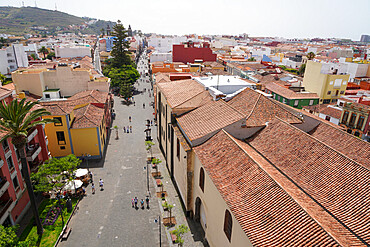 San Cristobal de La Laguna seen from the tower of the Immaculate Conception church, Tenerife, Canary Islands, Spain, Atlantic, Europe