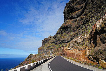 The road to Punta de Teno Lighthouse, Tenerife, Canary Islands, Spain, Atlantic, Europe