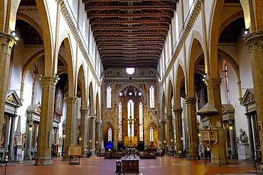 Santa Croce Basilica, Florence, UNESCO World Heritage Site, Tuscany, Italy, Europe