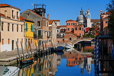 Rio degli Ognissanti and Gesuati church, Dorsoduro neighborhood during Coronavirus lockdown, Venice, UNESCO World Heritage Site, Veneto, Italy, Europe