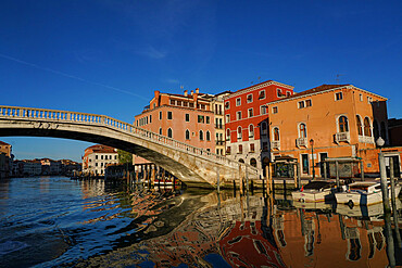 Scalzi bridge on the Grand Canal during Coronavirus lockdown, Venice, UNESCO World Heritage Site, Veneto, Italy, Europe