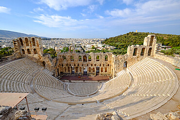 Odeon of Herodes Atticus, Acropolis, UNESCO World Heritage Site, Athens, Greece, Europe