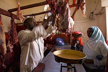Muslim butcher in Harar, Ethiopia, Africa