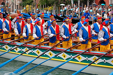 Regata Storica di Venezia, the most important traditional event in Venice, UNESCO World Heritage Site, Veneto, Italy, Europe