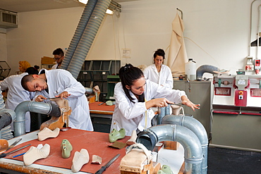 Wood model laboratory at Cercal footwear school, San Mauro Pascoli, Emilia-Romagna, Italy, Europe