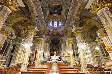 Basilica of Santa Margherita Ligure, Sanctuary of Nostra Signora della Rosa, Piazza Caprera, Santa Margherita Ligure, Genova (Genoa), Liguria, Italy, Europe