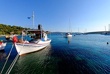 The small port and beach of Posidonio, Samos Island, North Aegean Islands, Greek Islands, Greece, Europe