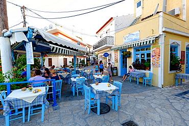 Tavernas in Kokkari, Samos Island, North Aegean Islands, Greek Islands, Greece, Europe