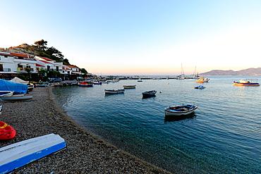 Kokkari at sunset, Samos, North Aegean islands, Greek Islands, Greece, Europe