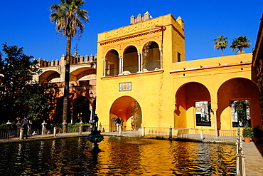 Fuente de Mercurio, Real Alcazar, UNESCO World Heritage Site, Seville, Andalucia, Spain, Europe