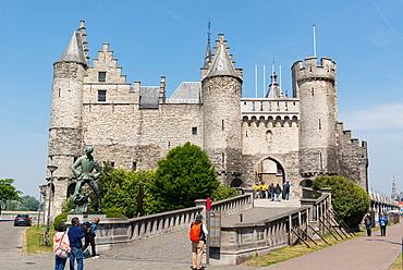 Het Steen, a medieval fortress in Antwerp, Belgium, Europe