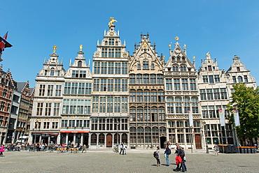 Grote Markt Guildhalls, Antwerp, Belgium, Europe