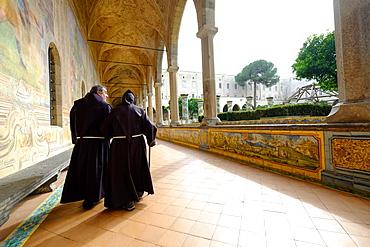Santa Chiara Majolica Cloister, Naples, Campania, Italy, Europe