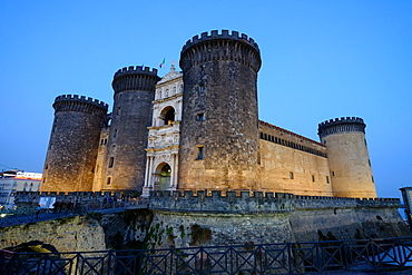 Castel Nuovo (Maschio Angioino), a medieval castle located in front of Piazza Municipio, Naples, Campania, Italy, Europe